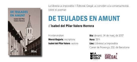 Invitació al recital DE TEULADES EN AMUNT